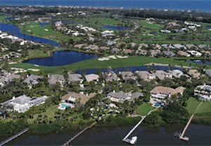 Orchid Island Homes from the sky