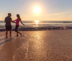 Couple enjoying the sunset in Vero Beach Florida