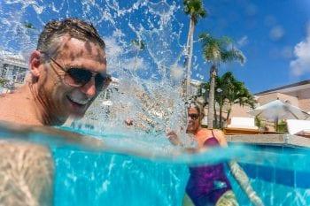 Orchid Island Friends Enjoying Pool