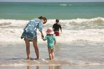 Orchid Island Family Enjoying the Beach