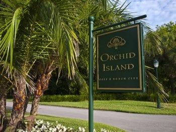 Orchid Island Golf & Beach Club Entry Sign