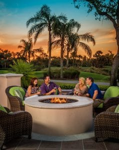 Orchid Island Firepit at Sunset