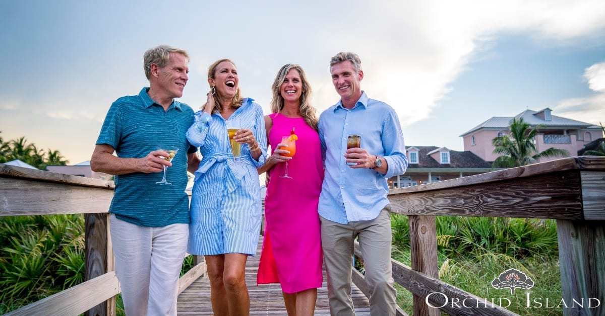 Residents enjoy the private beach and golf club at Orchid Island