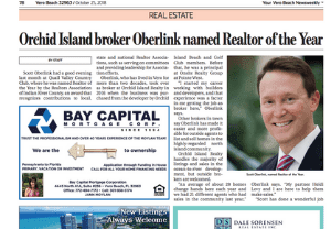 Orchid Island broker Oberlink named Realtor of the Year