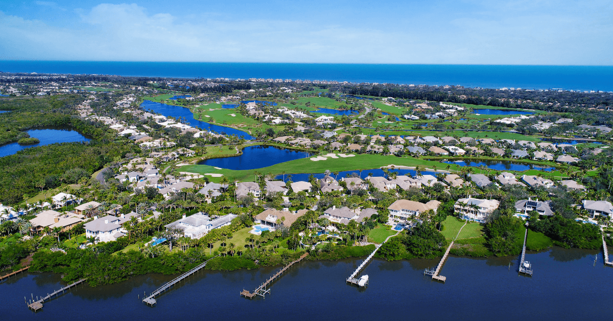 View of homes at Orchid Island Vero Beach