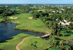 Lake and fairway at Orchid Island Golf Course