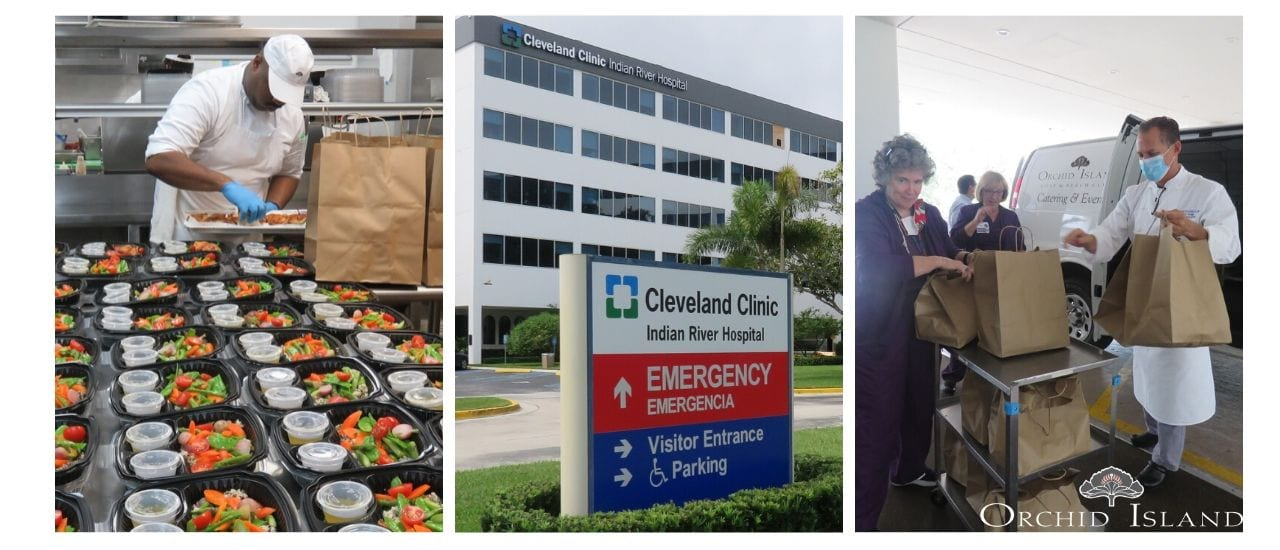 Orchid Island delivering meals to Cleveland Clinic