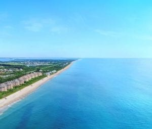 aerial image Atlantic ocean view of Orchid Island