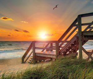 sun rise over vero beach at orchid island
