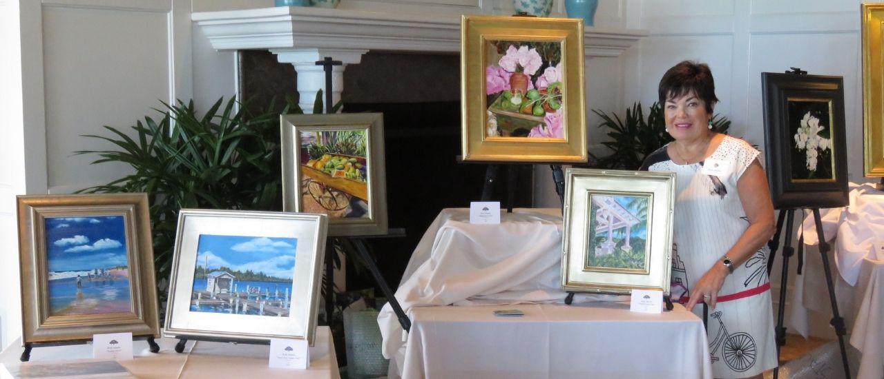 Ruth Martin Club Chair of Orchid Island Art Club